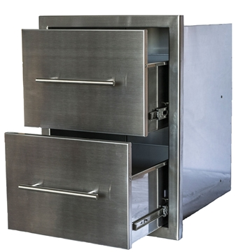 Picture of Stainless Built In BBQ Island Double Drawer