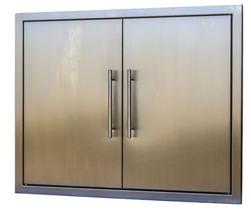 "Picture of BBQ Island Stainless 31"" Double Door"