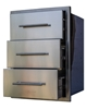 Picture of Stainless Built In BBQ Island Triple Drawer